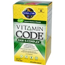 Garden of Life - Raw Vitamin K Comple - 120mcg - 60 Vegetarian Capsules - $28.99