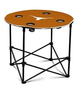 Texas Longhorns Collapsible Round Table with 4 Cup Holders and Carry Bag - $41.02