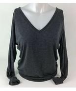 Juniors XS Womens American Eagle Long sleeve Shirt Gray V-Neck Drop Shou... - $27.67