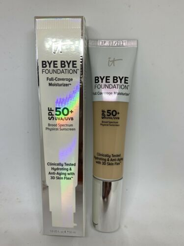 Primary image for It Cosmetics Bye Bye Foundation Full Coverage Moisturizer SPF 50 Light or Medium