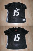 Women's Cincinnati Bearcats #15 XXL Adidas Football Jersey (Black) - $17.75