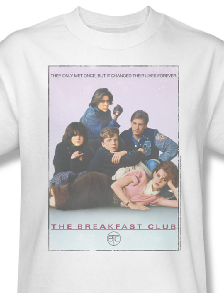 Akfast club 80 s molly ringwald anthony michael hall for sale online white graphic tee uni356 at