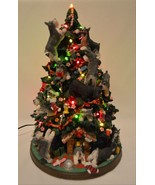 Danbury Mint Miniature Schnauzer Dog Christmas Tree Lighted Figurine Ret... - $272.25