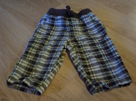 Infant Baby Size 3-6 Months Gymboree Green Brown Plaid Pants EUC - $10.00