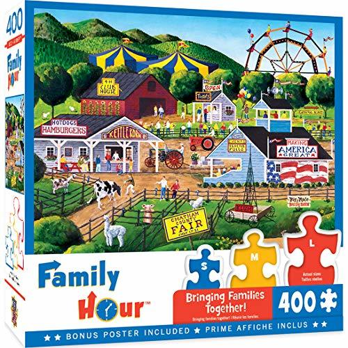 MasterPieces Family Hour 400 Puzzles Collection - Summer Carnival 400 Piece Jigs - $12.99