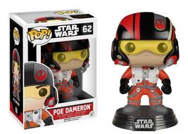 Star Wars The Force Awakens Poe Dameron Vinyl Pop Figure Toy #62 Funko New Nib - $8.79