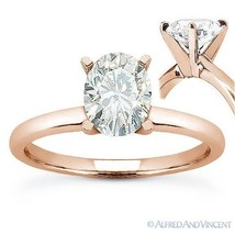 Forever ONE D-E-F Oval Cut Moissanite Solitaire Engagement Ring in 14k Rose Gold - €615,01 EUR - €3.589,14 EUR