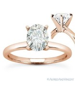 Forever ONE D-E-F Oval Cut Moissanite Solitaire Engagement Ring in 14k R... - €561,63 EUR+