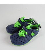 London Fog Toddler Mud Puppies Pool Water Shoes Blue Green Slip On Kids New - $20.99