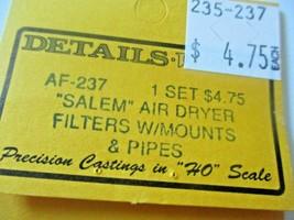 "Details West # AF-237""Salem"" Air Dryer Filters with Mounts & Pipes HO-Scale image 2"