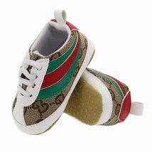 Soft Bottom Baby Walking Shoes Brown Canvas Toddlers Shoes 0-18 Months G505 - $16.99
