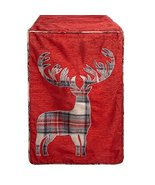 Nantucket Home Handmade Red Plaid Deer Table Runner, 72-Inch - $25.97
