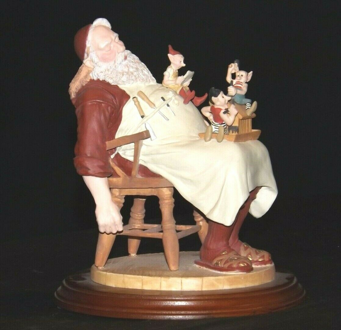 Days to Remember - Norman Rockwell Santa with Helpers Figurine AA19-1648 Vintag