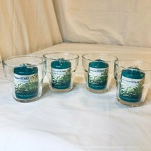 4pk Colonial Home Fresh Forest Votives w/ Glass Holders NEW - $25.49