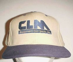 CLM Equipment Company, Inc. Houston TX  Adult Unisex Blue Khaki Cap One ... - $22.76