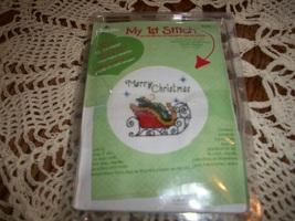 Bucilla My 1st Stitch Kit 86226~Merry Christmas - $6.00