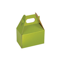 "10 Mini Gable Box, 4"" x 2-1/2"" x 2-1/2""  Small gift box green gift wrap NEW - $5.17"