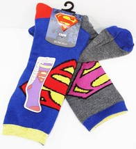 SUPERMAN & BIZARRO REVERSIBLE SOCKS BIOWORLD DC COMICS ADULT ONE SIZE NE... - $8.88
