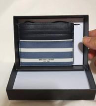 Michael Kors Denim White Grant Jet Set Tall Card Case Holder Box Holder Wallet - $25.00