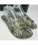 Qupid Womens Camel Leopard Print Criss Cross Band Flat Slide Sandal Shoe... - $16.80