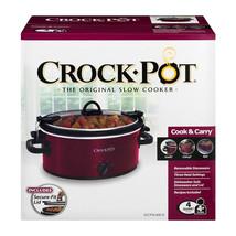 Crock-Pot 4-Quart Cook & Carry Slow Cooker | actualColor: Red - £24.69 GBP