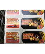 Nintendo Donkey Kong 64 Promo Stickers *RARE* ~ SNES ~ Mario ~ switch ~ Wii - $42.08