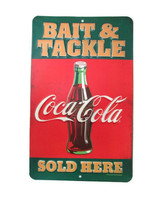 Coca-Cola Tin Sign Bait and Tackle  - BRAND NEW - $11.39