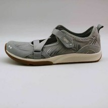 Ryka Womens Sneakers Shoes Gray Walking Low Top Canvas Cushioned Hook & Loop  6W - $34.64
