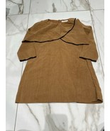 Zara Kids Girls Tan Beige Tiered Crossover Zip Back Dress Size 6 - $10.45
