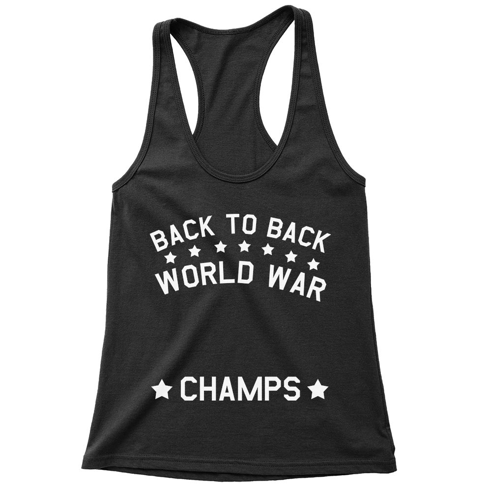 Racerback Flowy Tank| Back To Back World War Champs