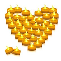 Youngerbaby 100pcs Amber Yellow Battery Operated Tea Lights Flameless Fl... - $26.00