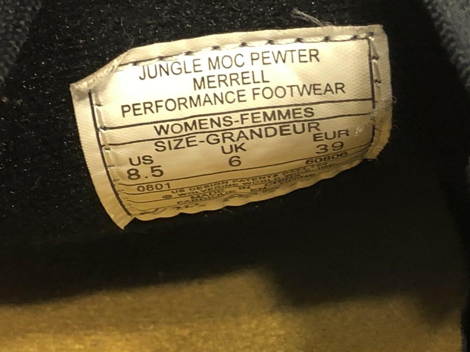 Merrell Jungle Moc Nubuck Slip On Women's Size 8.5 Pewter Gray