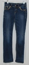 "Silver Suki 17"" Jeans Embellished Pockets Juniors W 26 L 31 Denim Blue Jean - $24.70"