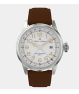 Charles Hutton Watches GMT 81761-9E Watch Brown Suede Band - $295.00