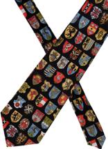 "Museum Artifacts Necktie Heraldic Shields British Isles silk 58""x4"" colo... - $19.79"