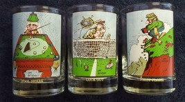 3 - Arby's Collectors Series Drinking Glasses Gary Patterson Comics Vint... - $10.00