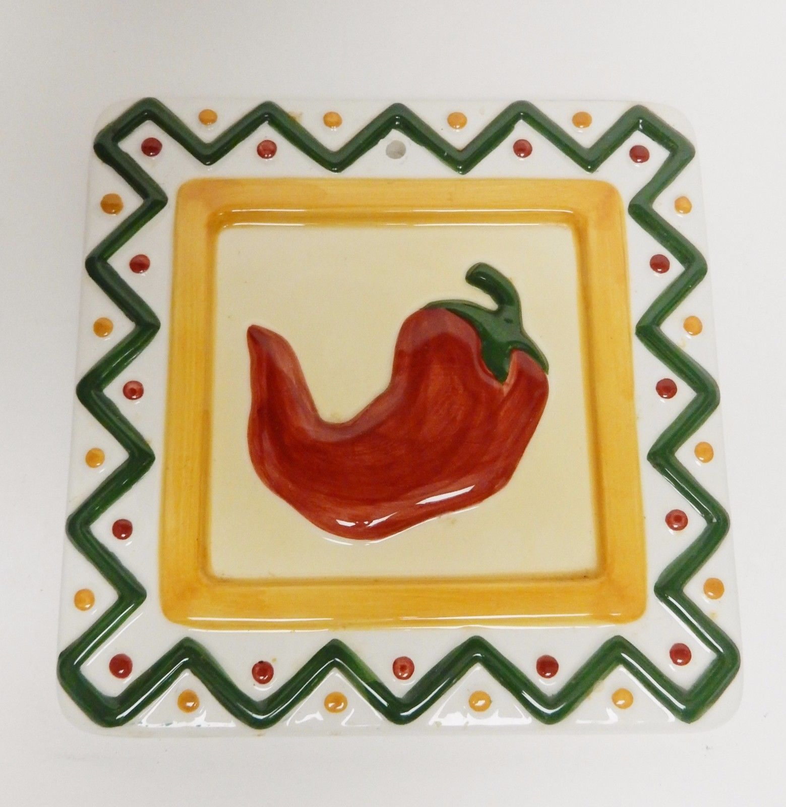 Clay Art Chili Pepper Ceramic Trivet Dish and 50 similar items