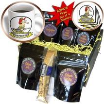 3dRose Funny Worlds Greatest Firefighter Cartoon Coffee Gift Basket, Multi - $17.24