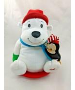 Hallmark Polar Bear Animated Plush Sled Penguin Sings Rocks Stuffed Anim... - $8.96