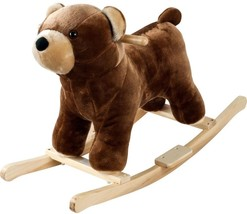 Happy Trails Plush Browns Rocking Barry Bear With Sounds Sturdy Handles - $50.10