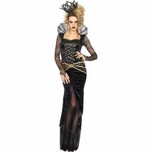 Leg Avenue Dark Evil Queen Costume Deluxe Medium Black Gold Womens NEW - $54.99