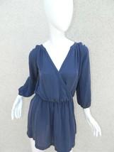 Joie Dress Blue Navy 100% Silk Long Sleeve Mini Dress Size Small - $37.25