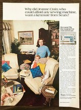 1970 Sears Kenmore Sewing Machine Print Ad Why Did Jeanne Crain Want a K... - $10.34