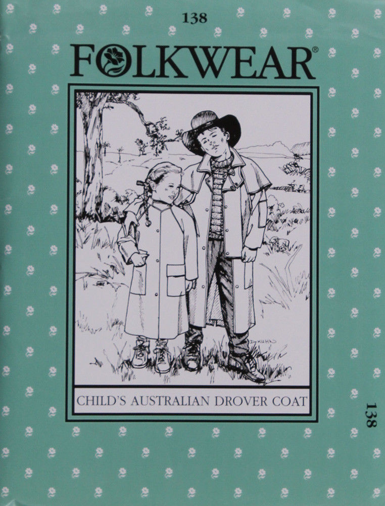 Primary image for Folkwear Child's Australian Drover Coat #138 Sewing Pattern Only folkwear138