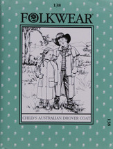 Folkwear Child's Australian Drover Coat #138 Sewing Pattern Only folkwea... - $19.95