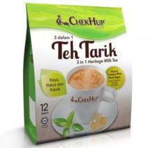 3 Pack Chek Hup 3 in 1 Teh Tarik Rich & Creamy Milk Tea ( 12 Sachets ) E... - $78.90