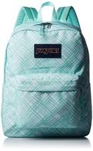 JanSport SuperBreak Student Backpack - Aqua Dash Jagged Plaid  - $32.99