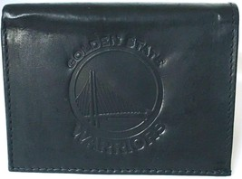Golden State Warriors Nba Black Leather TRI-FOLD Wallet Embossed Team Logo New - $13.89