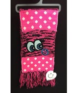 NWT LITTLE MISS MATCHED Hot Pink/Blk REVERSIBLE WINTER SCARF/Sequins NYC - $9.49