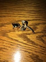 Vintage MONET Signed Gold Tone Brooch / Pin Long Stemmed Rose - $6.79